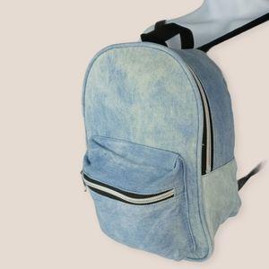 VTG discolored adjustable mini jean backpack